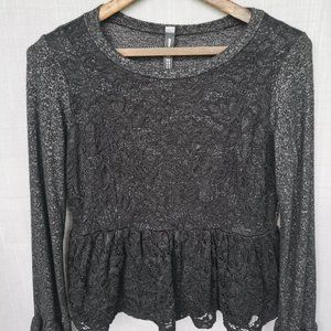 Design Lab lace long-sleeve top